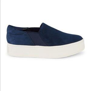 Vince Warren Satin Slip-On Platform Sneakers sz8.5